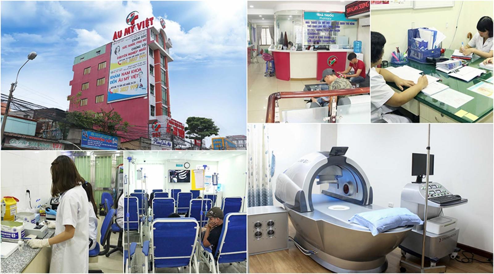 Trang thiết bị, bác sĩ điều trị bệnh lậu tại Đa khoa Âu Mỹ Việt